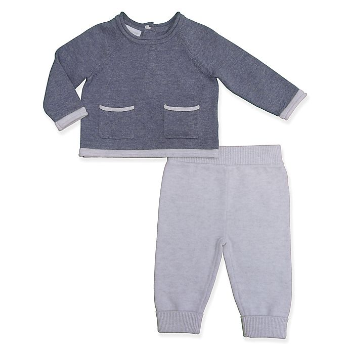 Alternate image 1 for Clasix Beginnings™ by Minibasix® 2-Piece Sweater and Pant Set in Navy
