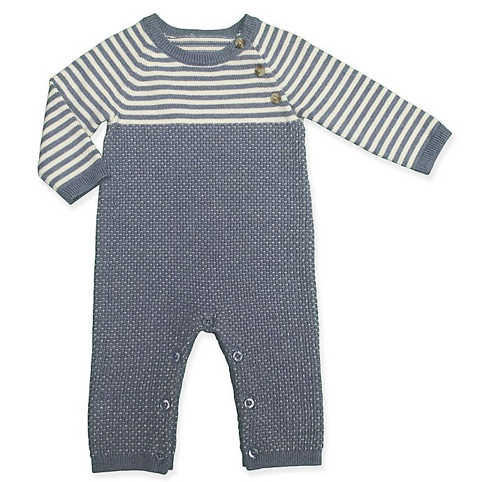 Alternate image 1 for Clasix Beginnings™ by Minibasix® Stripe Sweater Coverall in Navy