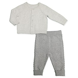 Clasix Beginnings™ by Minibasix® Sweater Cardigan and Pant Set in Grey