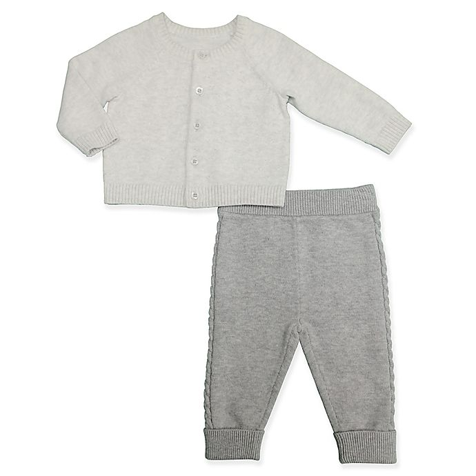 Alternate image 1 for Clasix Beginnings™ by Minibasix® Sweater Cardigan and Pant Set in Grey