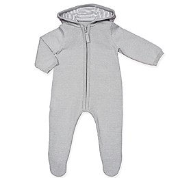 Clasix Beginnings™ by Minibasix® Ears Hooded Footie in Grey