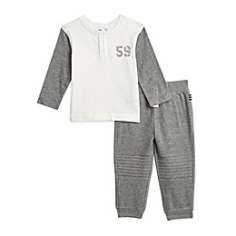 Splendid® 2-Piece Flocked Shirt and Jogger Set in Grey