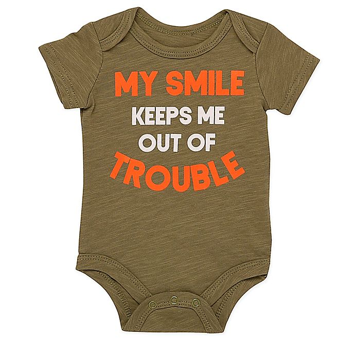 Alternate image 1 for Baby Starters® BWA® My Smile Bodysuit in Green