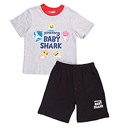 Baby Shark Shorts in Grey/Black