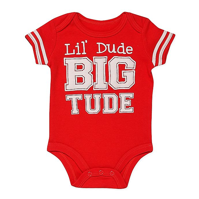 Alternate image 1 for Baby Starters® BWA® Lil' Dude Short Sleeve Bodysuit in Red