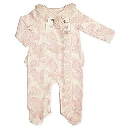 Clasix Beginnings™ by Minibasix® Floral Ruffle Footie in Pink