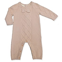 Clasix Beginnings™ by Minibasix® Bow Sweater Coverall in Mauve