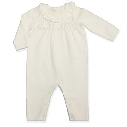 Clasix Beginnings™ by Minibasix® Pointelle Sweater Coverall in Ivory