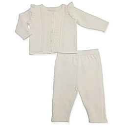 Clasix Beginnings™ by Minibasix® Sweater Cardigan and Pant Set in Ivory