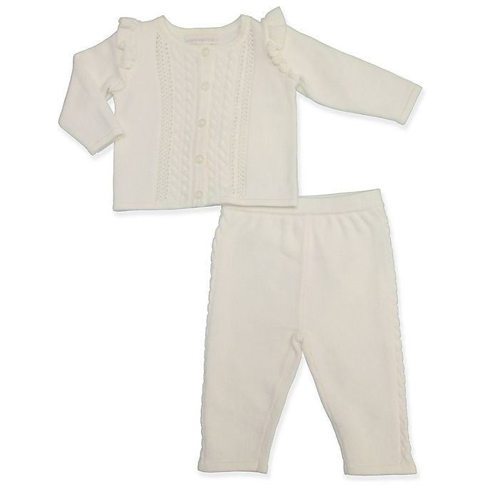 Alternate image 1 for Clasix Beginnings™ by Minibasix® Sweater Cardigan and Pant Set in Ivory