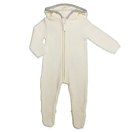 Clasix Beginnings™ by Minibasix® Thermal Hooded Footie in Ivory