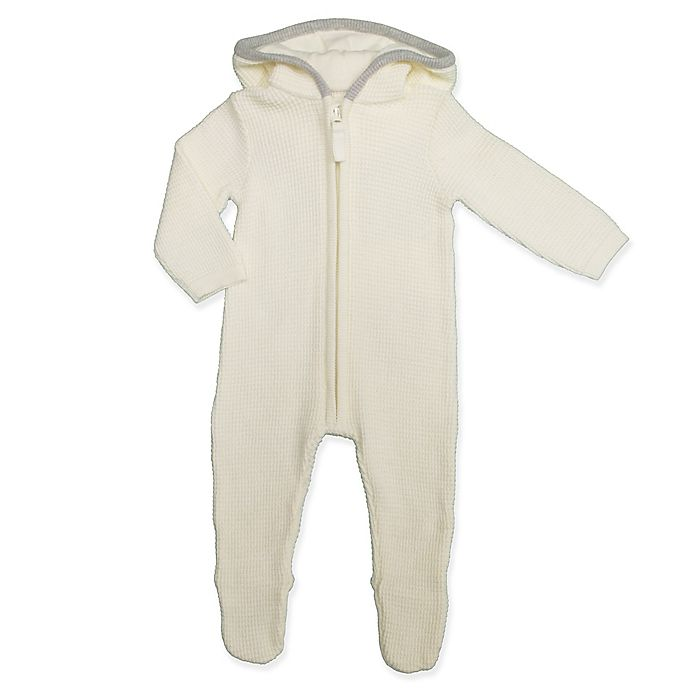 Alternate image 1 for Clasix Beginnings™ by Minibasix® Thermal Hooded Footie in Ivory