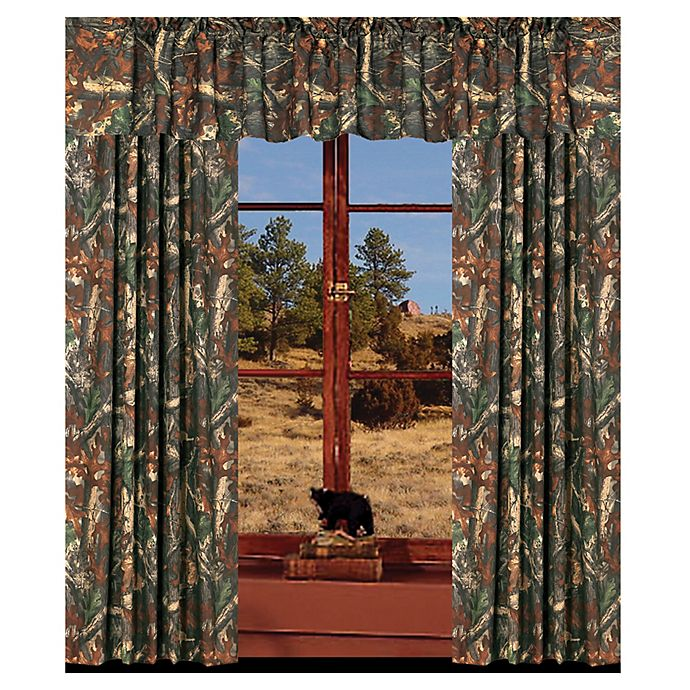 Alternate image 1 for HiEnd Accents Oak Camo Window Valance