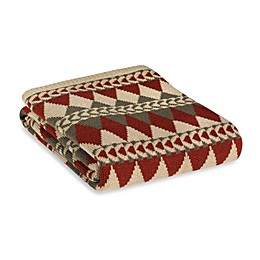HiEnd Accents Wilderness Ridge Knitted Throw Blanket in Red