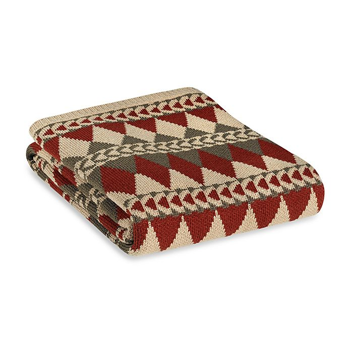 Alternate image 1 for HiEnd Accents Wilderness Ridge Knitted Throw Blanket in Red