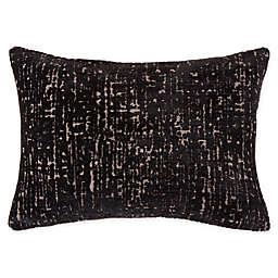 Korfu Oblong Throw Pillow in Black/White