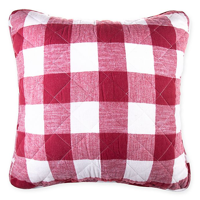 Alternate image 1 for Bee & Willow™ Home Square Buffalo Check Throw Pillow