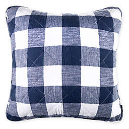 Bee & Willow™ Home Square Buffalo Check Throw Pillow in Navy