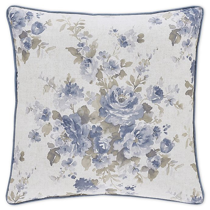 Alternate image 1 for Piper & Wright Frances 20-Inch Square Throw Pillow in Blue