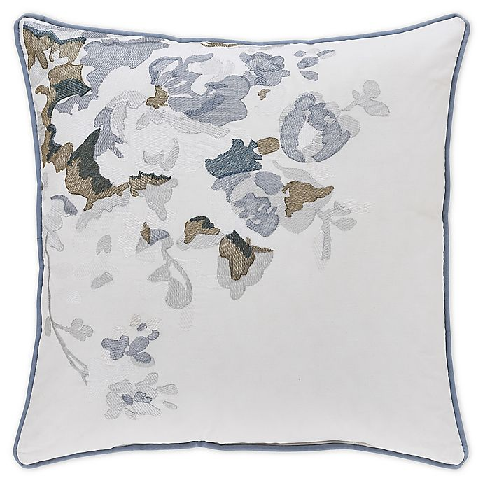 Alternate image 1 for Piper & Wright Frances Embroidered Roses Throw Pillow in Blue