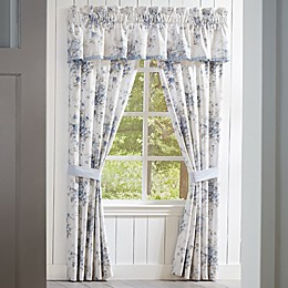 Piper & Wright Frances 84-Inch Rod Pocket Window Curtain Panel Pair in Blue