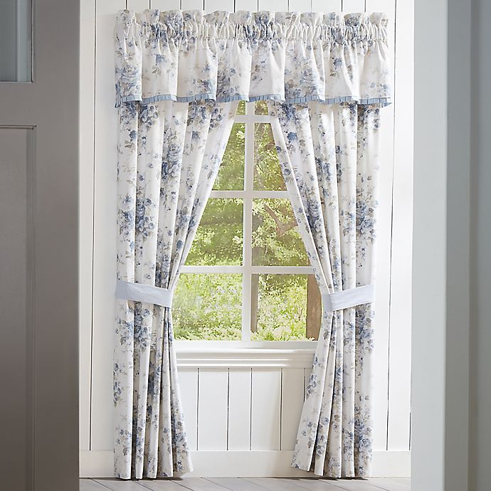 Alternate image 1 for Piper & Wright Frances 2-Pack 84-Inch Rod Pocket Window Curtain in Blue