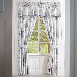 Piper & Wright Frances 2-Pack 84-Inch Rod Pocket Window Curtain in Blue