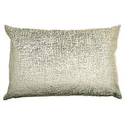 Alamode Home Fletcher 14K Velvet Oblong Throw Pillow in Gold