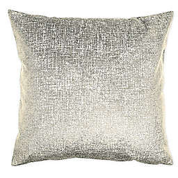 Alamode Home Fletcher 14K Velvet Square Throw Pillow in Gold