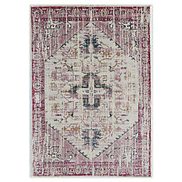 CosmoLiving Antique Rose Area Rug in Ivory/Pink
