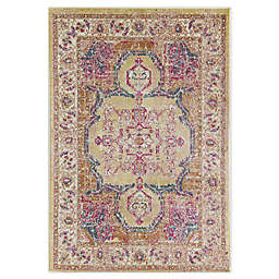 CosmoLiving Avenue Autumn Area Rug in Gold/Ivory