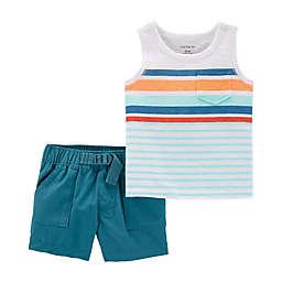 carter's® 2-Piece Striped Sleeveless Top and Short Set