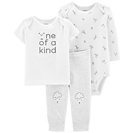 carter's® Preemie 3-Piece Sheep Shirt, Bodysuit, and Pant Set in Ivory