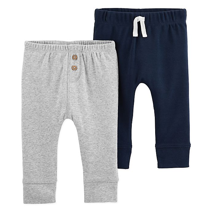 Alternate image 1 for carter's® 2-Pack Sweatpants in Navy/Grey
