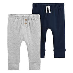 carter's® 2-Pack Sweatpants in Navy/Grey