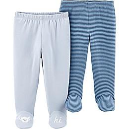 carter's® Preemie 2-Pack Footed Pants in Blue