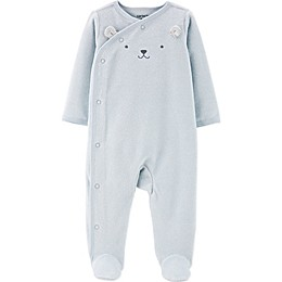 carter's® Bear Face Snap-Up Footie in Blue