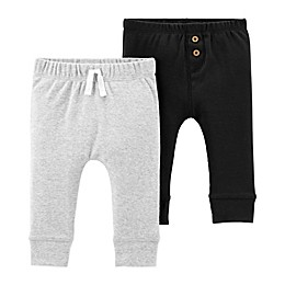 carter's® 2-Pack Pants in Black/Grey