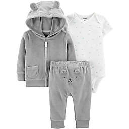 carter's® 3-Piece Bear Bodysuit, Jacket, and Pant Set in Grey