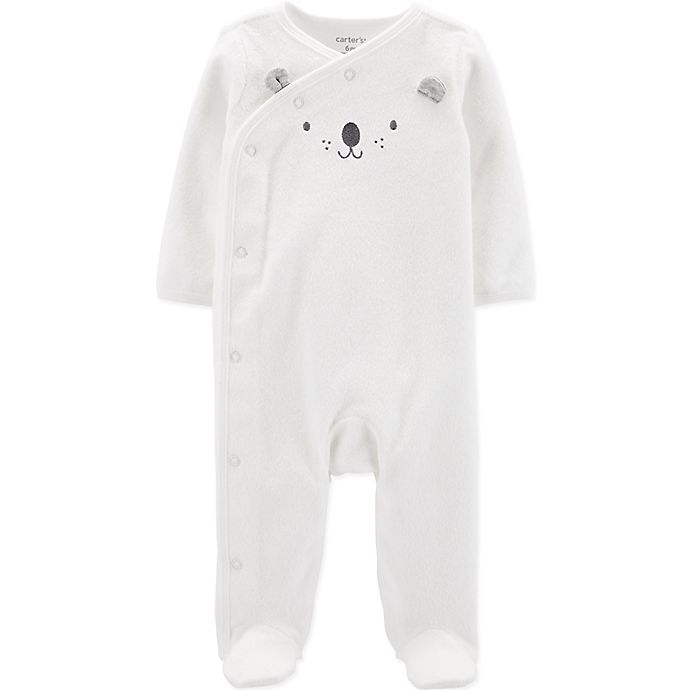 Alternate image 1 for carter's® Bear Footie in Ivory