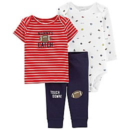 carter's® 3-Piece Sports Little Character Layette Set in Navy