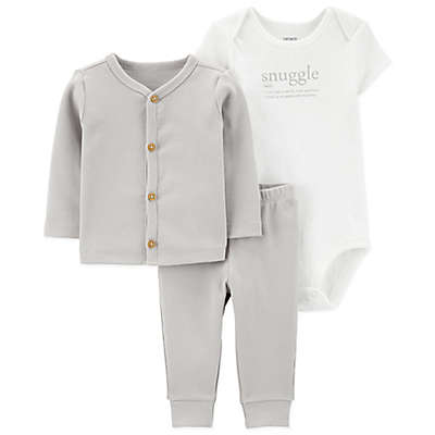 carter's® 3-Piece Snuggle Layette Set in Grey