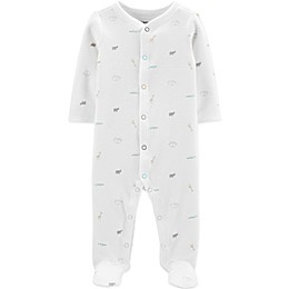 carter's® Preemie Thermal Animals Footie in Ivory