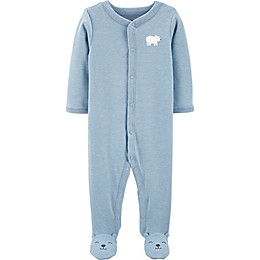 carter's® Preemie Polar Bear Footie in Blue