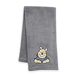 Lambs & Ivy® Forever Pooh Baby Blanket in Blue/Grey