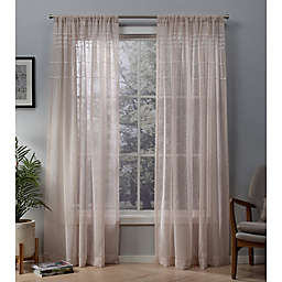 Davos 2-Pack 96-Inch Rod Pocket Window Curtain in Blush