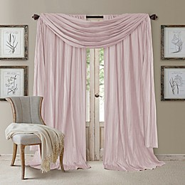 Athena Window Curtain Panel Pair with Scarf Valance