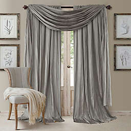 Elrene Athena 108-Inch Window Curtain Panels with Scarf Valance in Sterling