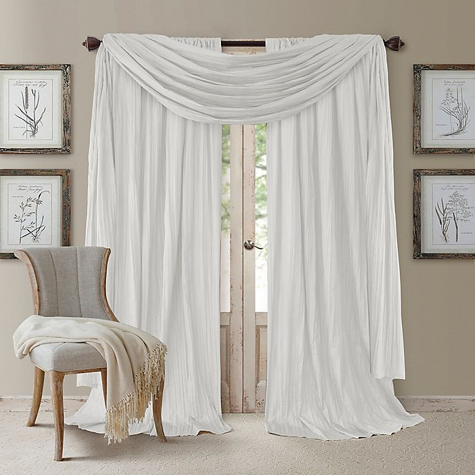 Alternate image 1 for Elrene Athena Window Curtain Panels with Scarf Valance