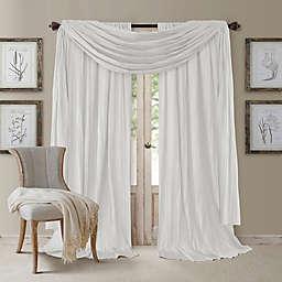 Athena Window Curtain Panel Pair with Scarf Valance